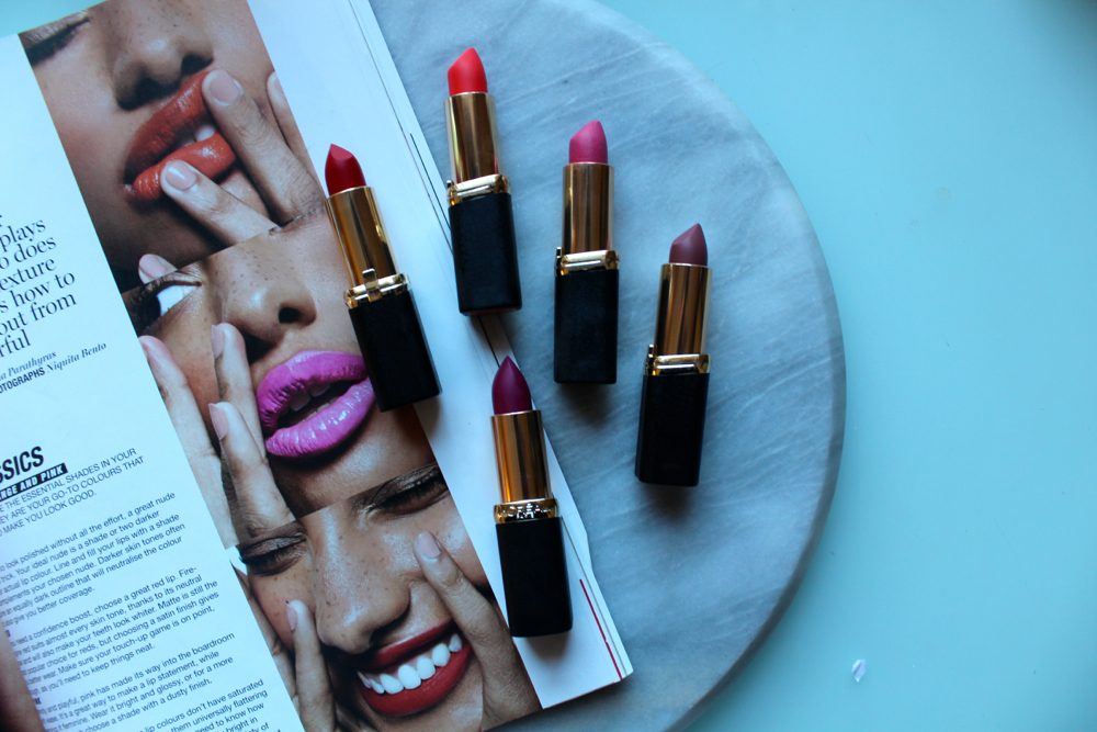 Loreal Matte Colour Riche Lipsticks