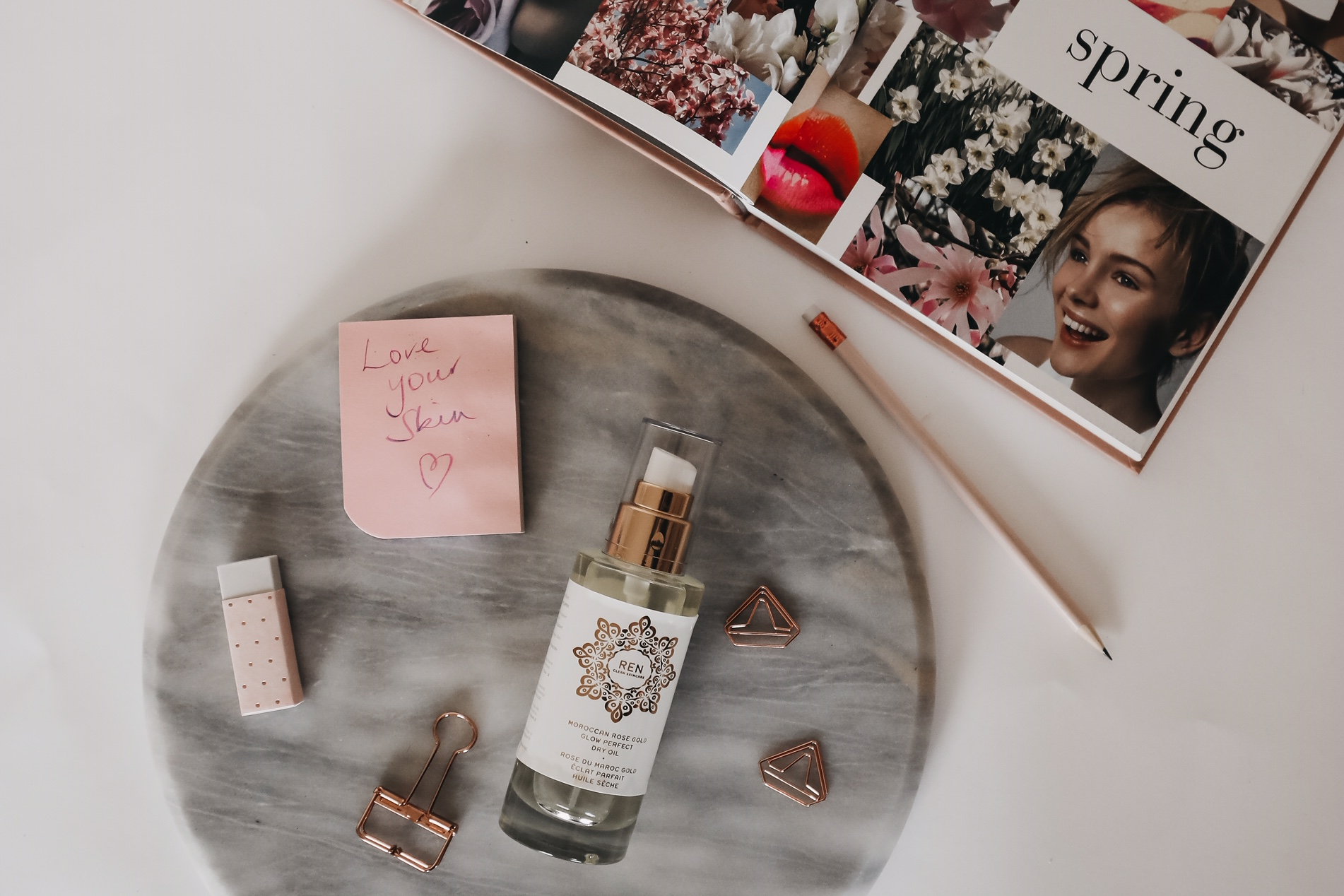 Ren Moroccan Rose Gold Glow Dry Perfect Oil